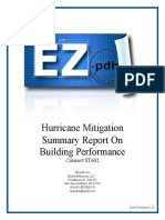 ST602 Hurricane Mitigation Report