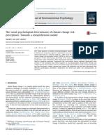 Modelo de Percepción de Cambio Climático Van Der Linden JEP 2015