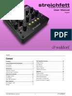Waldorf - Streichfett User Manual (EN)