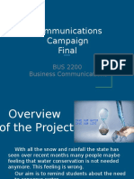 communications campaign final report pptx