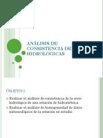 Análisis de Consistencia de Series Hidrológicas