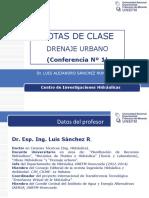 Conferencia Nº1 Drenaje Urbano Dr Sanchez
