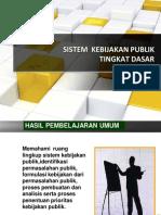 Sistem Kebijakan Publik Tingkat Dasar