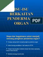 Isu Pendermaan Organ