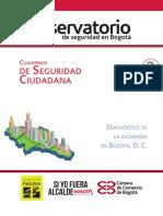 Cuaderno de Seguridad Ciudadana 3. Diagnóstico de La Extorsión en Bogotá
