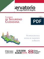 Cuaderno de Seguridad Ciudadana 8. Victimización en El Transporte de Bogotá