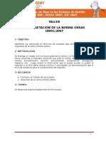 Taller 3 Interpretacion OHSAS 18001