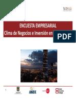 Encuesta Clima de Los Negocios en Bogotá