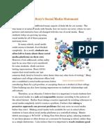 Social Media Statement