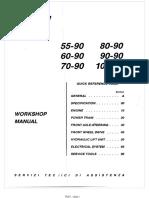 Fiat 80-90 Tractor Workshop Repair Service Manual