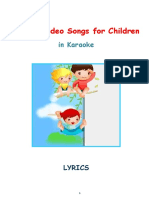 English Video Songs for Children - Lyrics