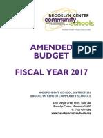 budget book fy17 - amendment