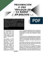Aproximación a Una Tipología de Radio en Bolivia