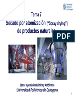 Tema 7 Secado Por Atomización de Productos Naturales