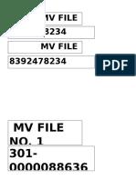 MV File Num