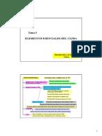 Tema 5 Elementos Esenciales Del Clima