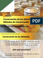 CONSERVACIÓN DE LOS ALIMENTOS