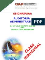 Clase Inaugural de Auditoría Administrativa - 2017-1b