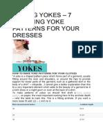 Sewing Yokes Mk