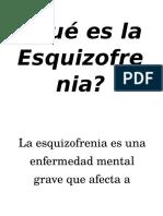 La Esquizofrenia(conceptos-resumidos)