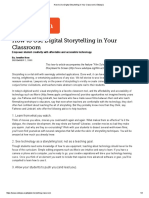 how to use digital storytelling in your classroom   edutopia