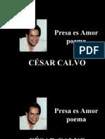 César Calvo - Presa es Amor - poesía