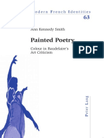 Painted Poetry Colour in Baudelaires Art Criticism Modern French Identities