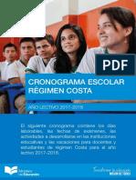 Cronograma Escolar Costa 2017-2018