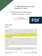 Desarrollo y Ambivalencias de La Teoria Economica de Marx by Michael Heinrich