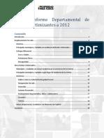 Informe de hechos victimizantes en el departamento de Caldas - 2012