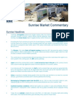 JUL 22 KBC Sunrise Mkt Commentary