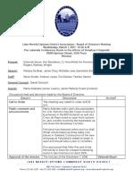 LMU Board Minutes March 3, 2017