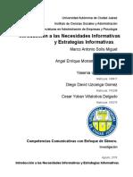 Introducción a las Necesidades Informativas y Estrategias Informativas.