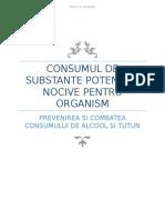 Consumul de Substante Potential Nocive Pentru Organism