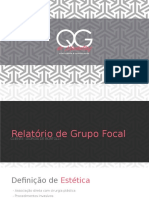 Relatotório Grupo Focal