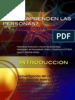 Naranjo, L (2010) Cómo Aprenden Las Personas. La Perspectiva de La Neurociencia