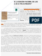 """PRESENTACIÓN DE LA EDICIÓN FACSÍMIL DE LOS """"Apuntes Históricos de la Villa de Medellín"""" (13/4/2016)"""