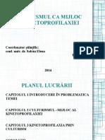 Kinetoprofilaxia prin culturism - prezentare -licență