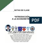 Apuntes de Clase Econometría