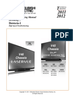 Mitsubishi Digital Television 2011-2012 technical Training Manual LaserVue and DLP