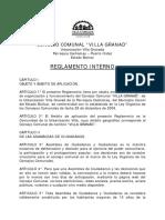 Reglamento Interno Consejo Comunal Villa Granad