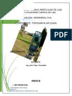 Informe Final Topografia Apliacada Curvas Horizontales
