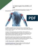 10 Remedios Caseros Para La Artritis y El Dolor Articular