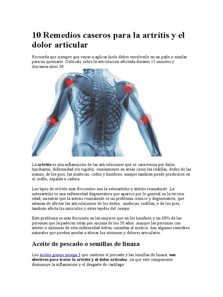 Remedios caseros para la artritis en las manos y pies
