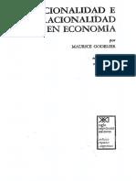 Godelier Maurice - Racionalidad E Irracionalidad en Economia