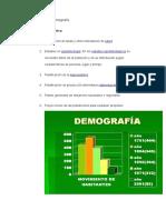 Importancia de La Demografía
