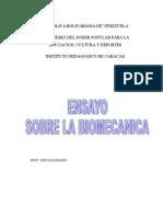 Ensayo Sobre La Biomecanica