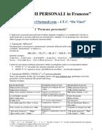 Pronomi Personali in Francese