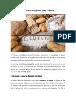 Comida Sin Gluten Para Celiacos