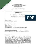 2 - Ementa Mini Curso LAPS - Durkheim, Weber e Kant